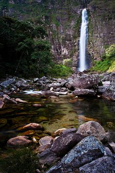Casca D'Anta, Parque Nacional Serra da Canastra, Sao Jose do Barreiro, MG…