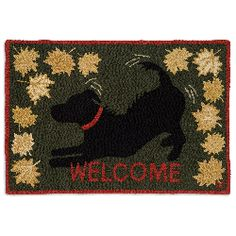 Fall is in the air - welcome it with this charming black lab rug :)