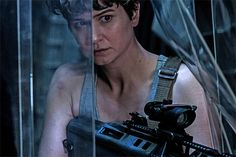 "michael-fassbender: ""New look at Katherine Waterston as Daniels in Alien: Covenant from Entertainment Weekly "" Michael Fassbender, Alien Covenant Movie, Film Prometheus, Danny Mcbride, Movie Previews, Star Wars, Ridley Scott, Sci Fi Horror, Horror Film"