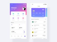 Card designed by Dimest for Nagrow. Connect with them on Dribbble; Ui Design Mobile, Mobile Application Design, Ios App Design, Credit Card App, Credit Card Design, Credit Cards, Dashboard App, Dashboard Design, App Design Inspiration