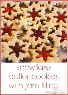 Snowflake Butter Cookies with Jam Filling (Homegrown Friends)