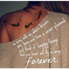 <3 I most def need a Peter Pan tattoo :) always has and always will be a fav
