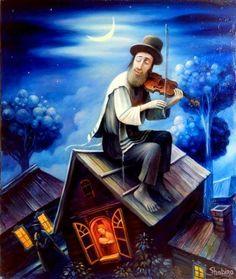 Fiddler on the Roof Fine Art Print Framed by Boris Shapiro Jewish History, Jewish Art, Good Shabbos, Arte Judaica, Fiddler On The Roof, Fine Art Prints, Framed Prints, Music Of The Night, African American Art