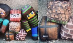 "http://www.happytoymachine.com/minecraft.php Your Minecraft skin can be made into a 16"" plush for $39.99 at happytoymachine.com"