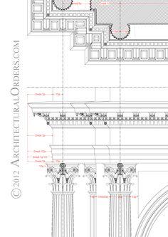 Corinthian Order: soffit and entablature detail