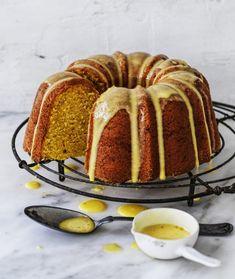 Orange milk cake Recipe | Good Food Almond Recipes, Gluten Free Recipes, Turmeric Milk, Milk Cake, Pastry Brushes, Cake Tins, Afternoon Tea, Cake Recipes, Good Food