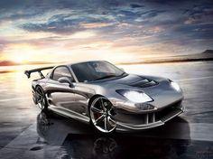 Fond d'écran avec une voiture précieux élégant Mazda RX-7 FD3S