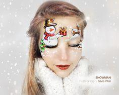 SNOWMAN Face Painting by Silvia Vitali https://www.facepainting.academy/face-painting-academy-pre-lancio/