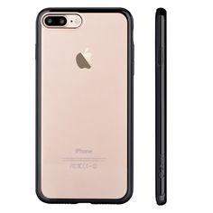 Coque iPhone 7 Plus + Protection en verre trempé - Noir