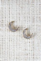 Glittering Moon Earrings