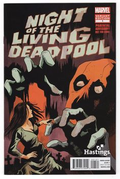 Night of the Living Deadpool #1 Francesco Francavilla Hastings Variant Cover (2014)
