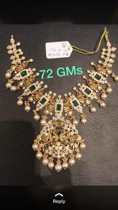 Emerald Jewelry, Gold Jewelry, Jewlery, Gold Necklaces, Chocker, Gold Jewellery Design, Uncut Diamond, Gold Set, Bridal Jewelry