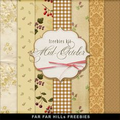 New Freebies Kit of Paper - Mid-October