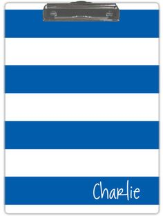 Blue and White Stripe Clipboard