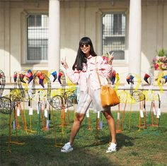 9baca5dcded Susie Bubble wearing Coach AW 16 dress and Coach Dinosaur Turnlock Wristlet   susielau  stylebubble