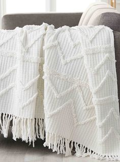 Chenille embroidery throw 130 x 150 cm - Woven - White Throw Blankets Chenille embroidery throw 130 x 150 cm My New Room, My Room, Dorm Room, Living Room Throws, White Throws, White Throw Blanket, Aesthetic Rooms, Chenille, Houses