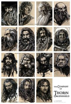 the Company of Thorin Oakenshield by evankartYou can find Thorin oakenshield and more on our website.the Company of Thorin Oakenshield by evankart Legolas, Le Hobbit Thorin, Hobbit Art, Bilbo Baggins, Thorin Oakenshield, Tauriel, Thranduil, The Hobbit, Gandalf