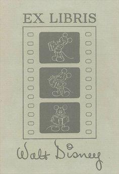 Walt Disney's personal bookplate, via TheArtOfManliness.com