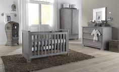 gray baby nursery ideas | Malmo smoked grey nursery set