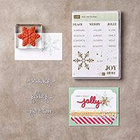Holly Jolly greetings bundle  Holly jolly greetings stamp set Christmas Greetings thinlets die set Winter Occasions 2015