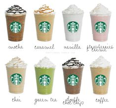 Starbucks = <3. Green tea frappe is my all time fave at Starbucks!