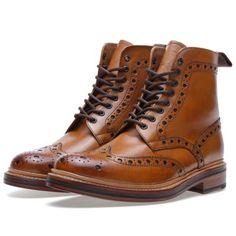 Grenson Fred Brogue Derby Boot (Tan) (£215.00) - Svpply