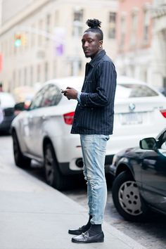 Joshua Kissi of Street Etiquette. Follow Sneak Outfitters for more cool street fashion snapshots from New York City. www.sneakoutfitters.com