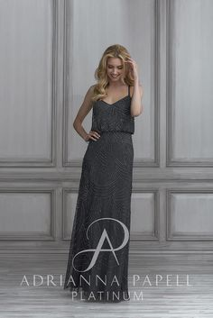 224e428ae4 Check out the deal on Adrianna Papell Platinum 40105 Blouson Bridesmaid  Dress at French Novelty