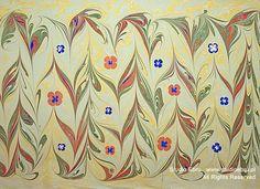 Ebru kwiaty