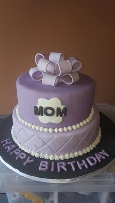 60th Birthday Cake For A Special Mother Of All Girlschocolate First Tier And Cappuccino Top