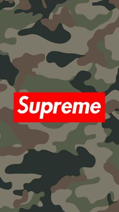 Supreme // Fond d'ecran // Iphone Wallpaper // Tendance // Logo // Fashion militaire armee