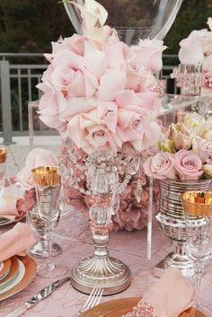 Tablescape...pretty in pink