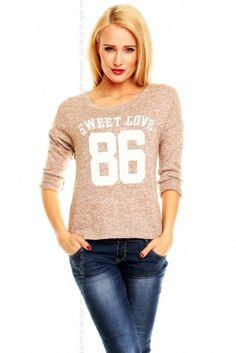 Sweterek 086 beżowy