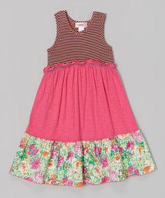 Look at this #zulilyfind! Pink Color Block Dress - Toddler & Girls by Unik #zulilyfinds
