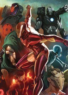 Iron Man by Marko Djurdjevic.