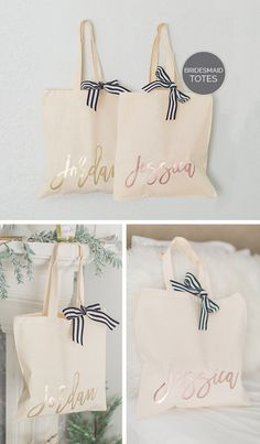 bb8e87886e Bridesmaid Tote Bag Gold - Rose Gold   Gold Bridal Party Tote - Personalized  Bridesmaid Bags