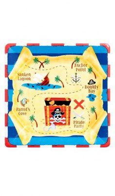 """8 Assiettes (17,7 Cm) """"Pirates"""""""