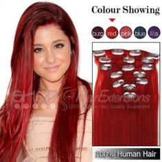 Double weft full head clip in hair extensions i funky shades copper hair extensions clip in pmusecretfo Gallery