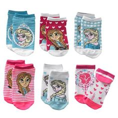 Disney Frozen 6-pk. Elsa & Anna Sparkle No-Show Socks - Girls #FrozenFunAtKohls