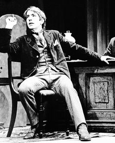 Alan Rickman as Sherlock in the play Sherlock Holmes (1976)