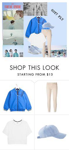 """GOT 7 FLY 1/3"" by kpoplover21 ❤ liked on Polyvore featuring Armani Junior, Jacob Cohёn, Pinko and adidas Originals"
