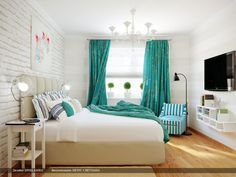 Bedroom. Bedroom. Remarkable And Delightful Interior Design For Bedrooms Styles. White Bric Bedroom Accent Walls Feature Pale Green Cotton Hanging Bedroom Window Curtains And Beige Mahogany Bedroom Hardwood Floor. Interior Design For Bedrooms Ideas. Remarkable And Delightful Interior Design For Bedrooms Styles