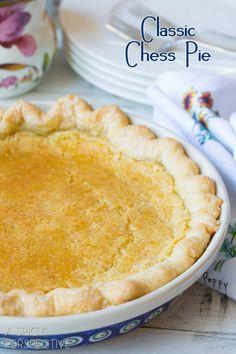 Chess Pie - A Creamy Southern Favorite! #Pie #ChessPie #PieCrust