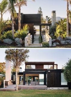 Steps downtown garden -- house in New Zealand / all the sea / Crosson Clarke Carnachan Architects