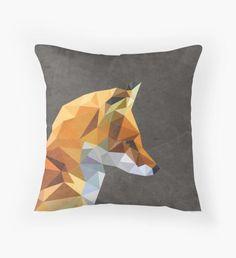 LP Fox Throw Pillow