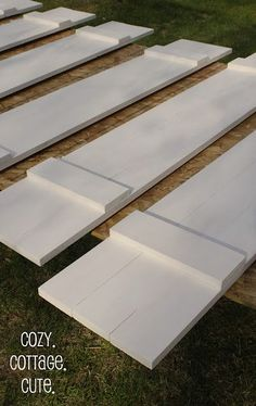 Cozy.Cottage.Cute.: How To Make Board and Batten Shutters - Charles, I want these shutters!