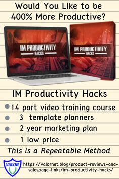 IM Productivity Hacks - Valornet Marketing Plan, Affiliate Marketing, Make Money Online, How To Make Money, Zero Hour, Herb Gardening, Productivity Hacks, Business Planner, Bonsai Trees
