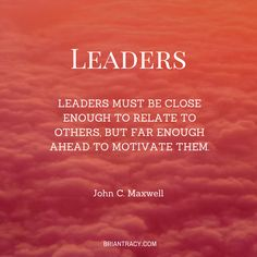 Leadership is more who you are than what you do.