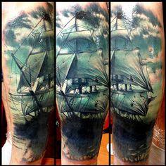 Realistic Nautical Tattoo by Zsofia Belteczky   Tattoo No. 12151