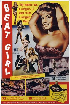 "Beat Girl, starring Gillian Hills (""Zou Bizou Bizou"") with John Barry's first soundtrack."